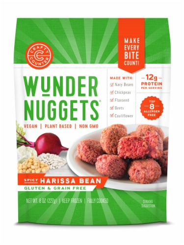 Wundernuggets Spicy Harissa Bean Perspective: front