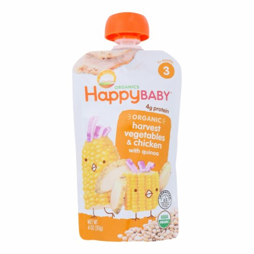 Happy Baby Organic Baby Food Stage 3 Chick Chick - 4 oz - Case of 16 Perspective: front