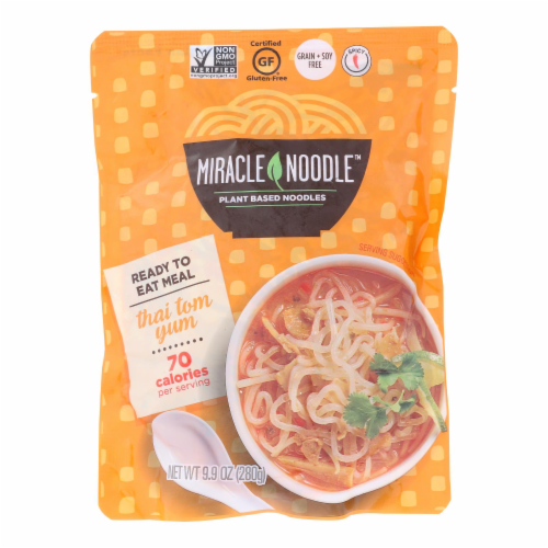 Miracle Noodle Ready to Eat Meal - Thai Tom Yum - Case of 6 - 10 oz Perspective: front