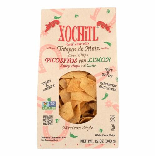 Xochitls Picositos Con Limon Corn Chips  - Case of 10 - 12 OZ Perspective: front
