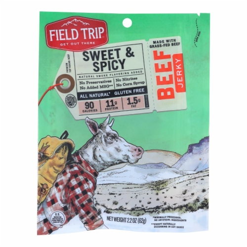 Field Trip Beef Jerky - Honey Spice - Case of 9 - 2.2 oz. Perspective: front