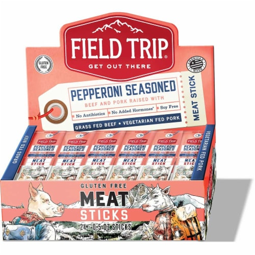 Field Trip Pepperoni Meat Stick, 0.5 Ounce -- 216 per case. Perspective: front
