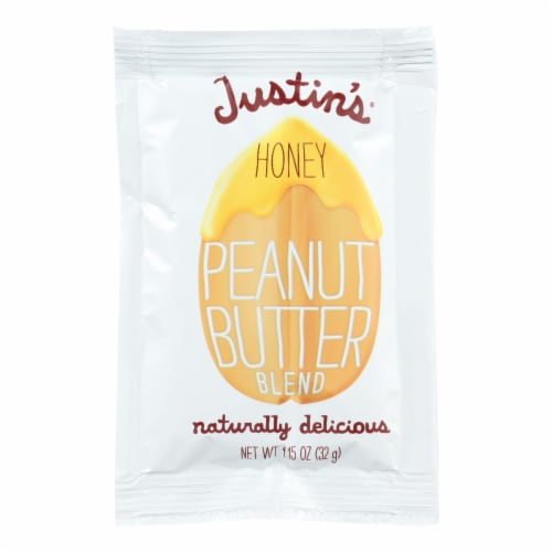 Justin's Nut Butter Squeeze Pack - Peanut Butter - Honey - Case of 10 - 1.15 oz. Perspective: front