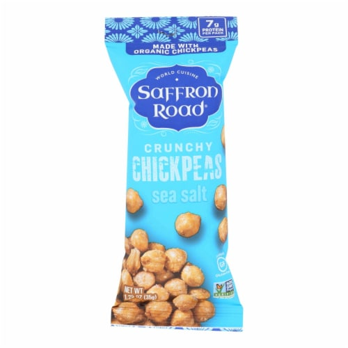 Saffron Road Crunchy Chickpeas - Case of 10 - 1.25 OZ Perspective: front