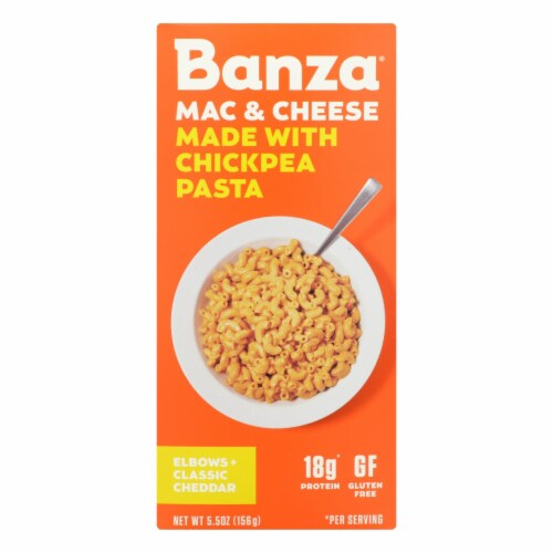 Banza Classic Cheddar Chickpea Pasta Mac and Cheese Perspective: front