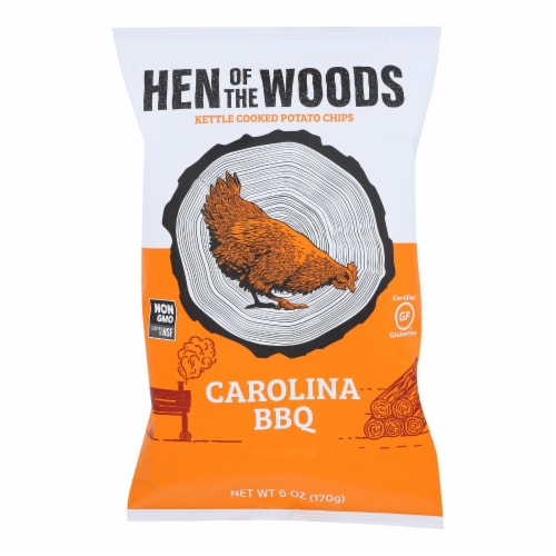 Hen Of The Woods - Carolina BBQ Gluten Free Kettle Chips - Case of 12 - 2 oz Perspective: front