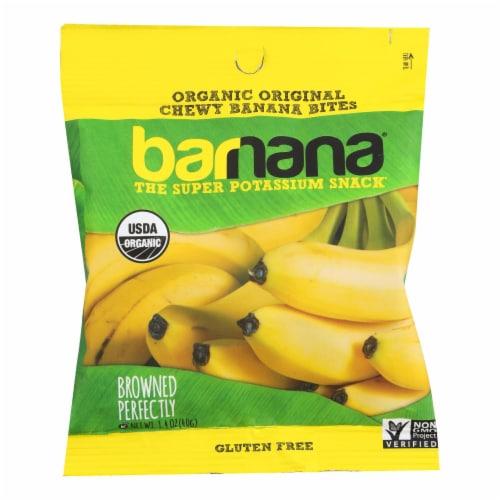 Barnana Organic Chewy Banana Bites - Original - Case of 12 - 1.4 oz Perspective: front