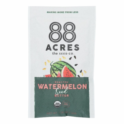 88 Acres - Seed Butter - Organic Watermelon - Case of 10 - 1.16 oz. Perspective: front