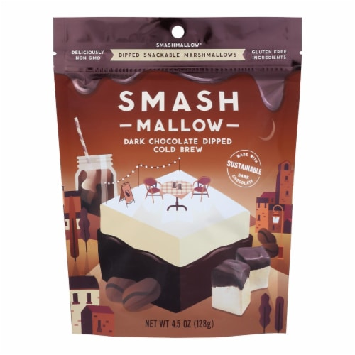 Smashmallow - Marshmallow Snack Dark Chocolate Cold Brew - Case of 10-4.5 OZ Perspective: front