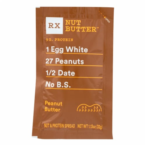 RxBar - Nut Butter - Peanut Butter - Case of 10 - 1.13 oz. Perspective: front