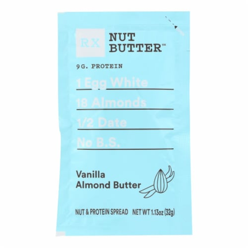 RxBar - Nut Butter - Vanilla Almond - Case of 10 - 1.13 oz. Perspective: front