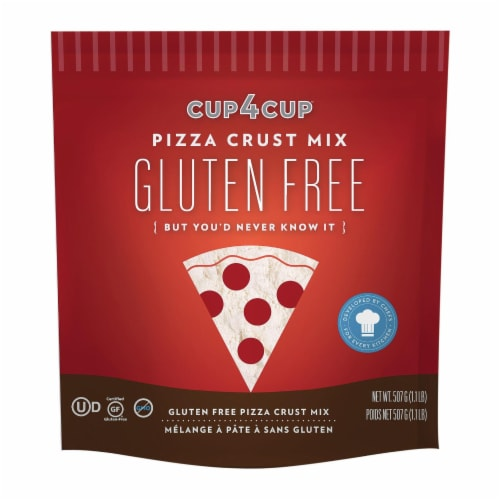Cup 4 Cup - Pizza Crust Mix - Case of 6 - 18 oz. Perspective: front