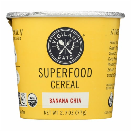Vigilant Eats Superfood Cereal - Case of 6 - 2.3 OZ Perspective: front