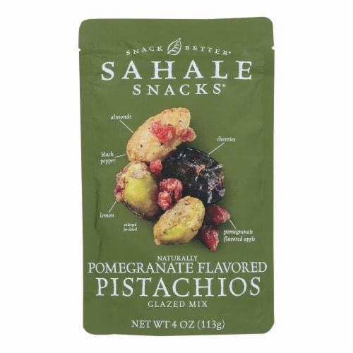 Sahale Snacks Premium Blend Pistachio - Pomegranate - Case of 6 - 4 oz. Perspective: front