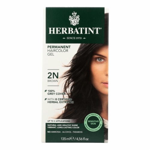 Herbatint Permanent Herbal Haircolour Gel 2N Brown - 135 ml Perspective: front