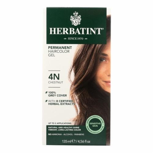 Herbatint Permanent Herbal Haircolour Gel 4N Chestnut - 135 ml Perspective: front