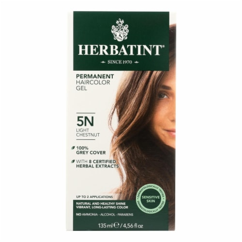 Herbatint Permanent Herbal Haircolour Gel 5N Light Chestnut - 135 ml Perspective: front