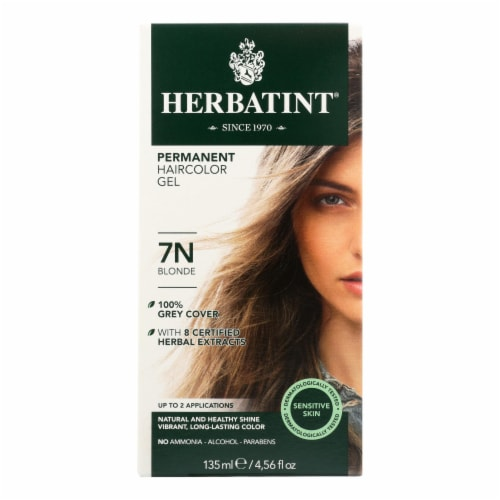 Herbatint Permanent Herbal Haircolour Gel 7N Blonde - 135 ml Perspective: front