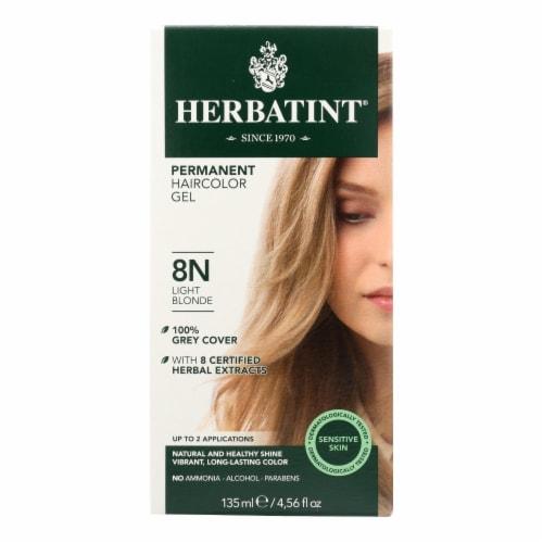 Herbatint Permanent Herbal Haircolour Gel 8N Light Blonde - 135 ml Perspective: front