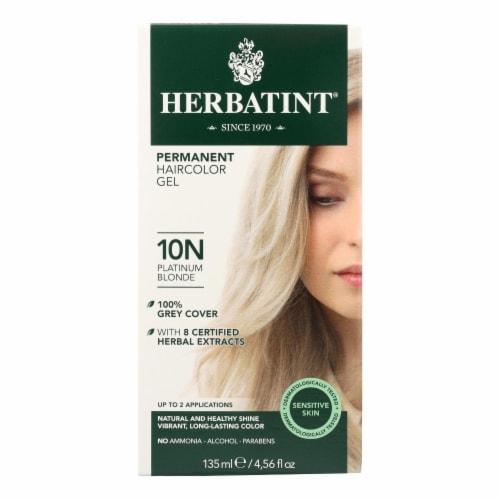 Herbatint Permanent Herbal Haircolour Gel 10N Platinum Blonde - 135 ml Perspective: front