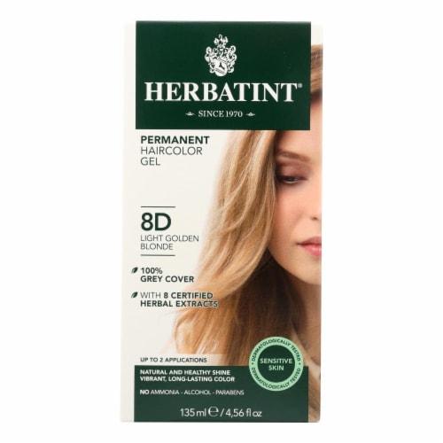 Herbatint Permanent Herbal Haircolour Gel 8D Light Golden Blonde - 135 ml Perspective: front