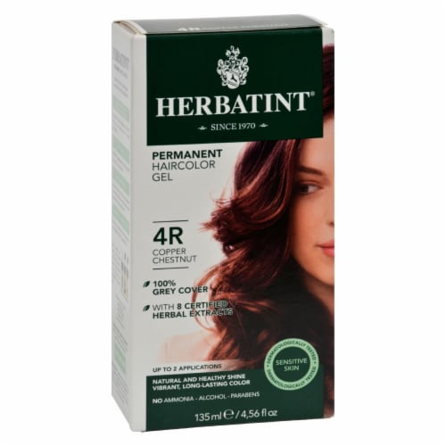 Herbatint Permanent Herbal Haircolour Gel 4R Copper Chestnut - 135 ml Perspective: front