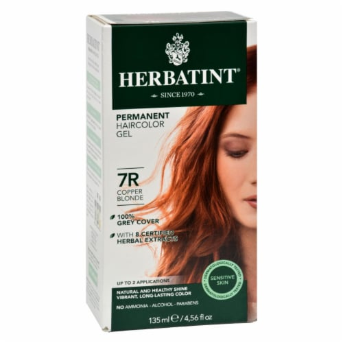 Herbatint Permanent Herbal Haircolour Gel 7R Copper Blonde - 135 ml Perspective: front