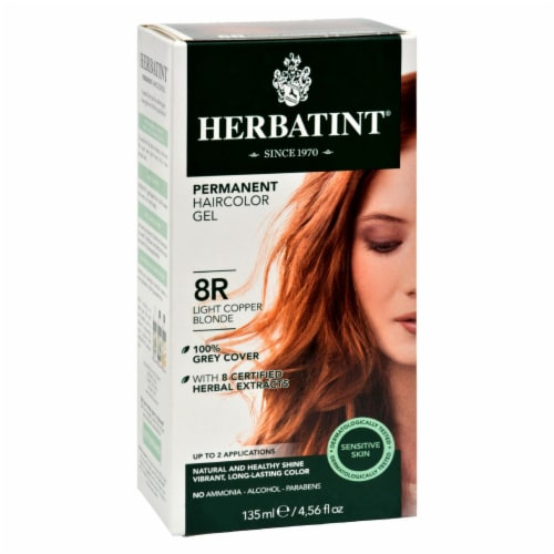 Herbatint Permanent Herbal Haircolour Gel 8R Light Copper Blonde - 135 ml Perspective: front