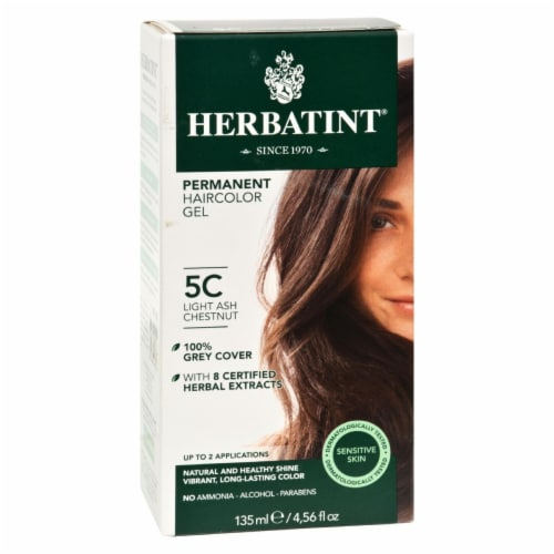Herbatint Permanent Herbal Haircolour Gel 5C Light Ash Chestnut - 135 ml Perspective: front