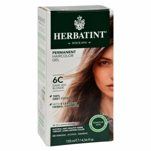 Herbatint Permanent Herbal Haircolour Gel 6C Dark Ash Blonde - 135 ml Perspective: front