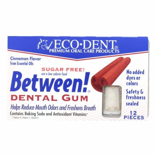 Eco-Dent Between Dental Gum - Cinnamon - Case of 12 - 12 Pack Perspective: front