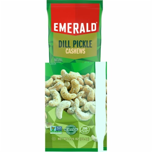 Emerald Dill Pickle Cashew, 1.25 Ounce -- 72 per case. Perspective: front