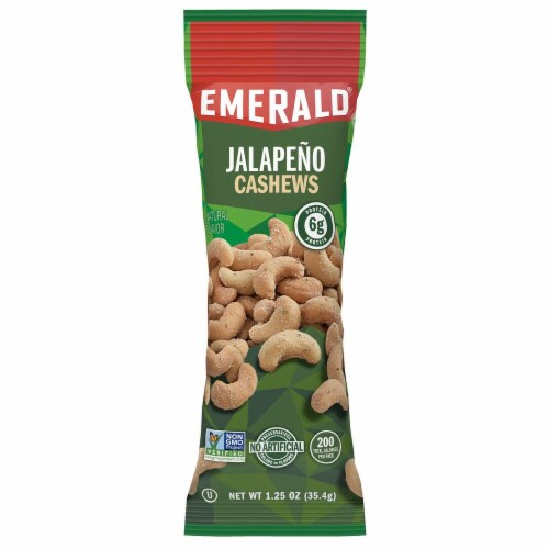 Emerald Jalapeno Cashew, 1.25 Ounce -- 72 per case. Perspective: front