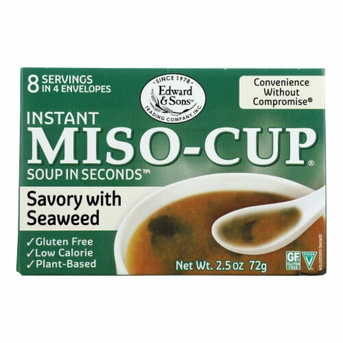 Edward and Sons Seaweed Miso - Cup - Case of 12 - 2.5 oz. Perspective: front