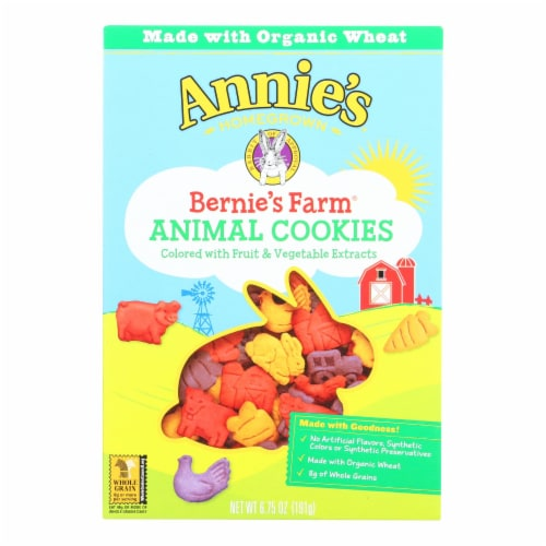 Annie's Homegrown Bernie's Farm Animal Cookies - Case of 12 - 6.75 oz. Perspective: front