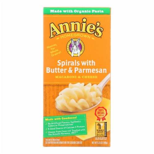 Annies Homegrown Spirals with Butter Parmesan Macaroni and Cheese - Case of 12 - 5.25 oz. Perspective: front