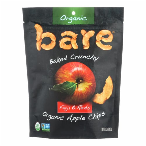 Bare Fruit Apple Chips - Organic - Crunchy - Fuji Red - 3 oz - case of 12 Perspective: front