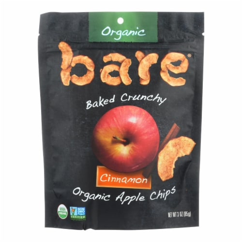 Bare Fruit Apple Chips - Organic - Crunchy - Simply Cinnamon - 3 oz - case of 12 Perspective: front