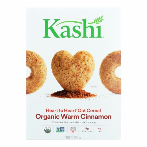Kashi Cereal - Oat - Heart to Heart - Warm Cinnamon - 12 oz - case of 12 Perspective: front