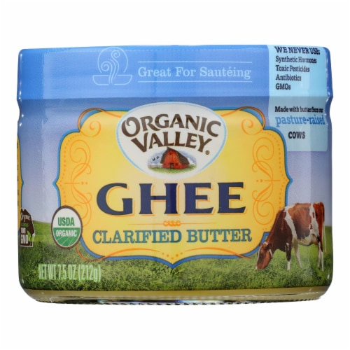 Purity Farms Ghee - Clarified Butter - Case of 12 - 7.5 oz. Perspective: front