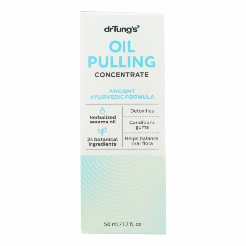 Dr. Tung's Oil Pulling - Ancient Ayurvedic Formula - Case of 12 - 1.7 oz. Perspective: front