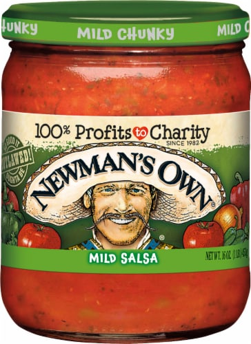 Newman's Own Mild Salsa Perspective: front
