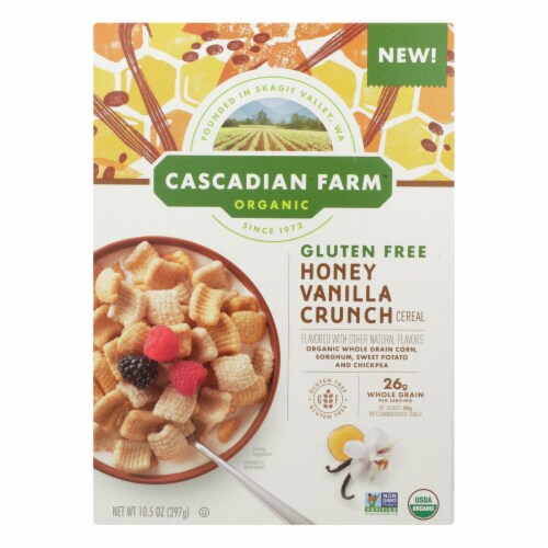 Cascadian Farm - Cereal Hny Vanilla Crunch - Case of 12 - 10.5 OZ Perspective: front