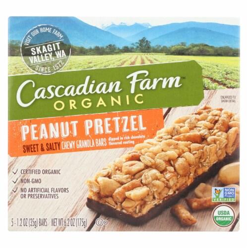 Cascadian Farm Sweet and Salty Bar - Organic - Peanut Pretzel - 6.2 oz - case of 12 Perspective: front