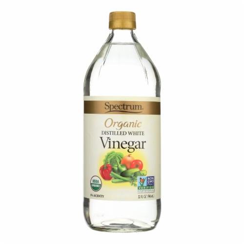 Spectrum Naturals Organic Distilled White Vinegar - Case of 12 - 32 Fl oz. Perspective: front