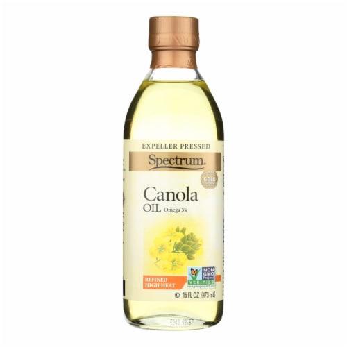 Spectrum Naturals Refined Canola Oil - Case of 12 - 16 Fl oz. Perspective: front