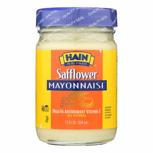 Hain Mayonnaise - Safflower - Case of 12 - 12 oz. Perspective: front
