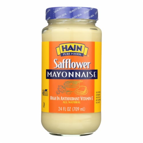 Hain Mayonnaise - Safflower - Case of 12 - 24 oz. Perspective: front