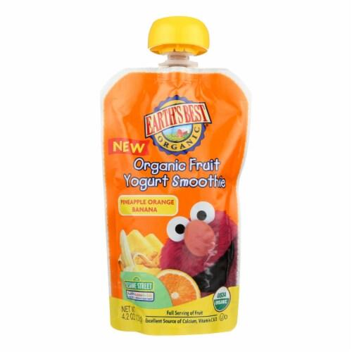 Earth's Best Baby Foods Organic Fruit Yogurt Smoothie-Pineapple Banana, Orange-12Case-4.2oz Perspective: front