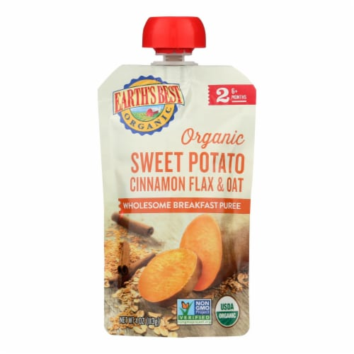 Earth's Best Organic Wholesome Breakfast Sweet Potato Cinnamon Pouch - Case of 12 - 4 oz. Perspective: front